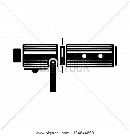 Studio lighting equipment icon in simple style on a white background