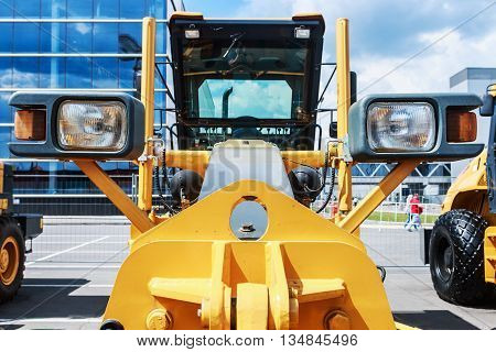 RUSSIA MOSCOW - May 31 2016: International Specialized Exhibition of Construction Equipment and Technologies at Crocus Expo. Construction Equipment Exhibition in Moscow
