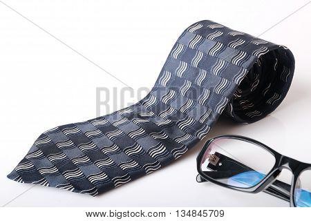 Necktie And Glasses