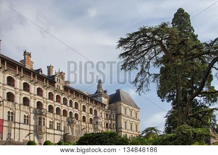 Blois castle in the valley of Loire, France