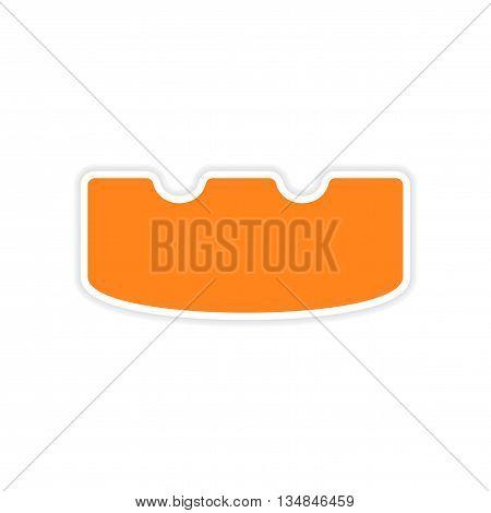 icon sticker realistic design on paper ashtray