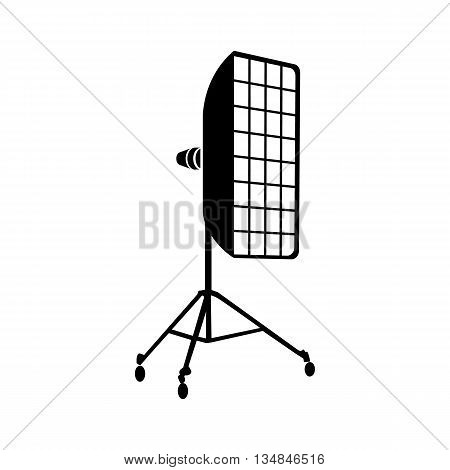 Photographic studio equipment icon in simple style on a white background