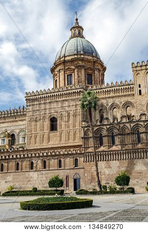 Monreale Cathedral (Duomo di Monreale) at Monreale near Palermo Sicily Italy Europe