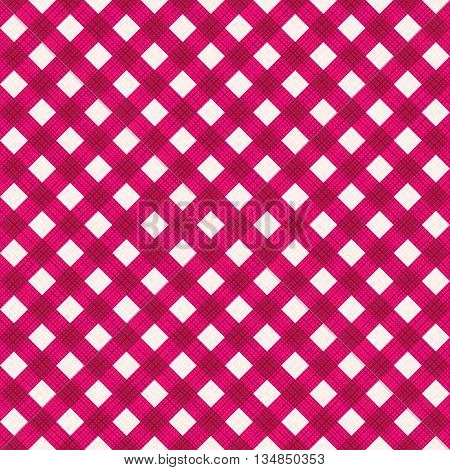 Seamless (you see 4 tiles) burgundy red diagonal gingham background