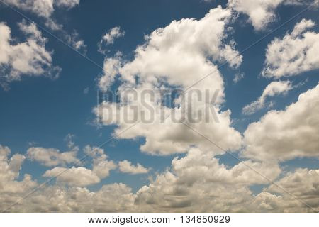 Cloud in rainy season and blue sky background.