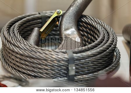 Hook And Cable For Construction