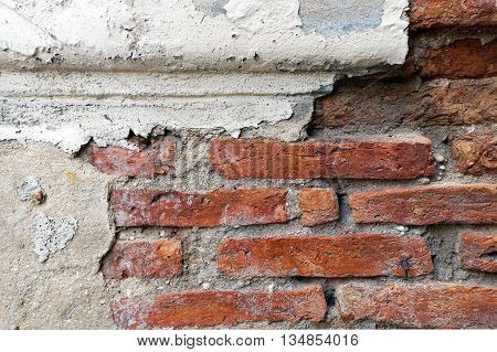 vintage background texture old masonry stone bricks on the ancient cement