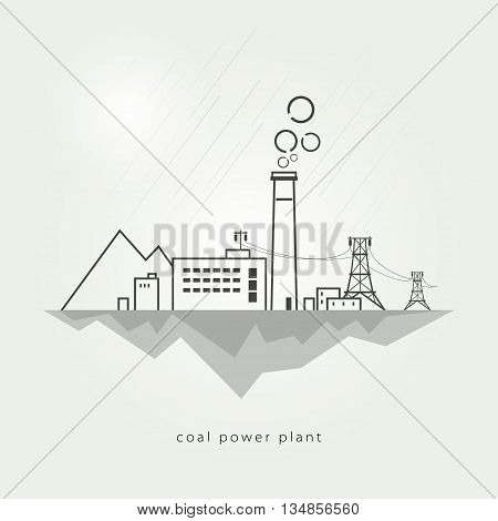 Complex industrial facilities with the power line