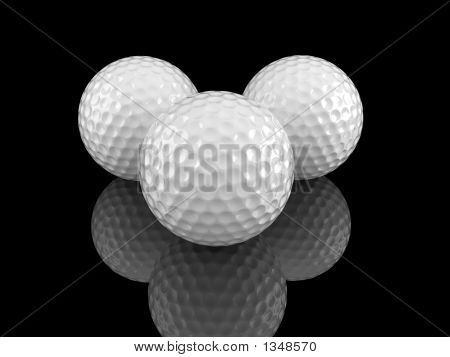 Golf Balls With Ground Reflection