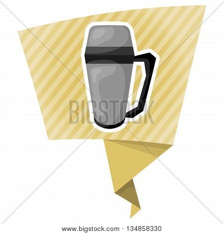 Vector illustration thermos icon cartoon design. Thermos for hot drink