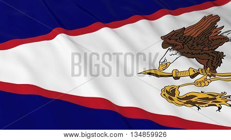 American Samoan Flag Hd Background - Flag Of American Samoa 3D Illustration