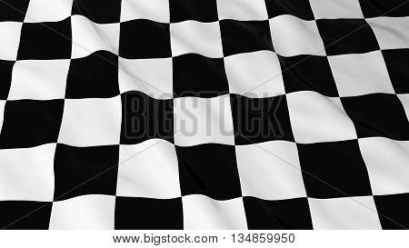 Checkered Racing Flag Hd Background - Finishing Line Flag 3D Illustration
