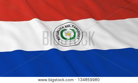 Paraguayan Flag Hd Background - Flag Of Paraguay 3D Illustration