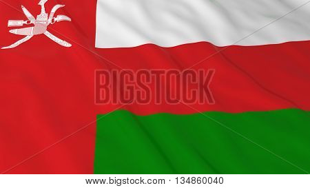 Omani Flag Hd Background - Flag Of Oman 3D Illustration