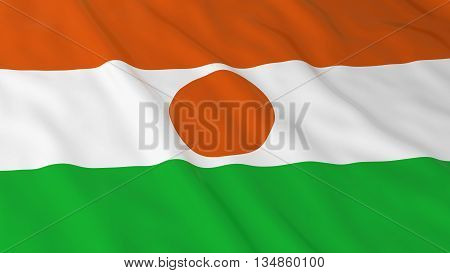 Nigerien Flag Hd Background - Flag Of Niger 3D Illustration