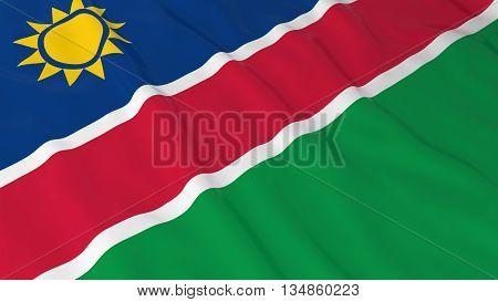 Namibian Flag Hd Background - Flag Of Namibia 3D Illustration