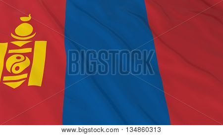 Mongolian Flag Hd Background - Flag Of Mongolia 3D Illustration