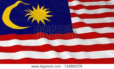 Malaysian Flag Hd Background - Flag Of Malaysia 3D Illustration
