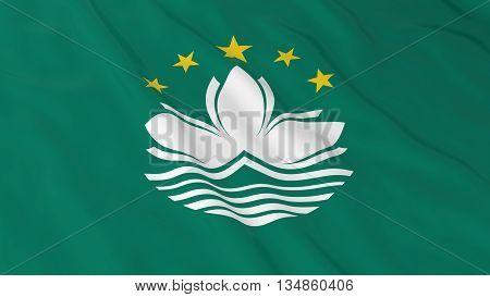 Macanese Flag Hd Background - Flag Of Macau 3D Illustration