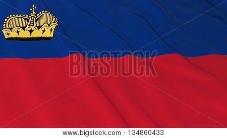 Liechtenstein Flag Hd Background - Flag Of Liechtenstein 3D Illustration