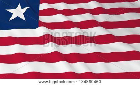 Liberian Flag Hd Background - Flag Of Liberia 3D Illustration