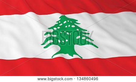 Lebanese Flag Hd Background - Flag Of Lebanon 3D Illustration