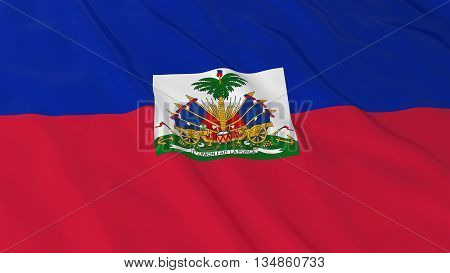 Haitian Flag Hd Background - Flag Of Haiti 3D Illustration