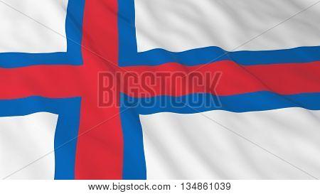 Faroese Flag Hd Background - Flag Of The Faroe Islands 3D Illustration