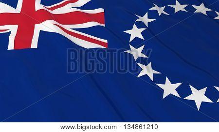 Cook Island Flag Hd Background - Flag Of The Cook Islands 3D Illustration