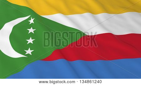 Comoran Flag Hd Background - Flag Of Comoros 3D Illustration