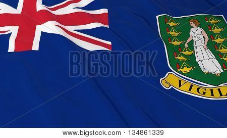British Virgin Island Flag Hd Background - Flag Of The Virgin Islands 3D Illustration