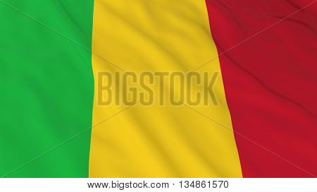 Malian Flag Hd Background - Flag Of Mali 3D Illustration