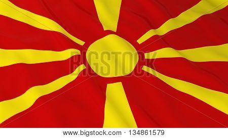 Macedonian Flag Hd Background - Flag Of Macedonia 3D Illustration
