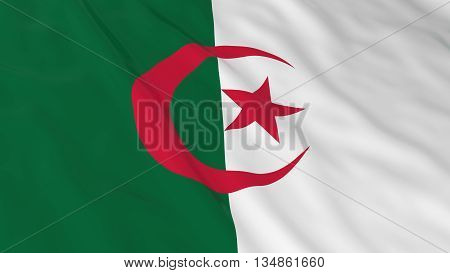Algerian Flag Hd Background - Flag Of Algeria 3D Illustration