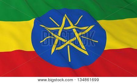 Ethiopian Flag Hd Background - Flag Of Ethiopia 3D Illustration