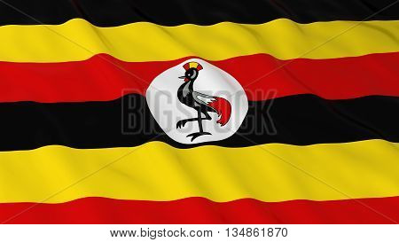 Ugandan Flag Hd Background - Flag Of Uganda 3D Illustration