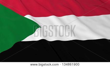 Sudanese Flag Hd Background - Flag Of Sudan 3D Illustration