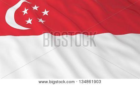 Singaporean Flag Hd Background - Flag Of Singapore 3D Illustration