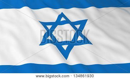 Israeli Flag Hd Background - Flag Of Israel 3D Illustration