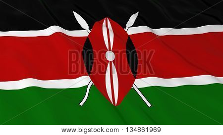 Kenyan Flag Hd Background - Flag Of Kenya 3D Illustration