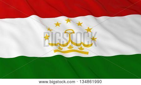 Tajikistani Flag Hd Background - Flag Of Tajikistan 3D Illustration