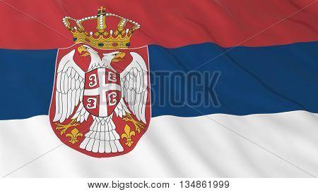 Serbian Flag Hd Background - Flag Of Serbia 3D Illustration