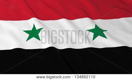 Syrian Flag Hd Background - Flag Of Syria 3D Illustration