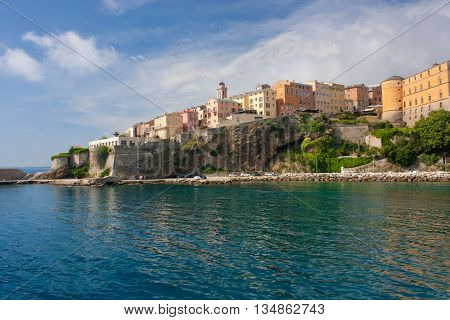 View on the citadel of Bastia in Corsica France