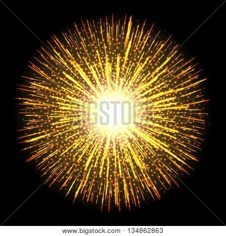 Transparent light flare fireworks effect. Isolated sparks for insert your design. Graphic illustration