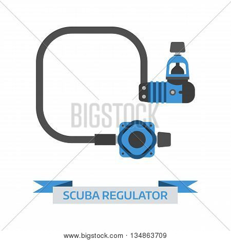 Scuba Diving Regulator Vector Icon