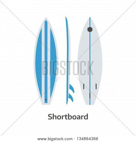 Shortboard Surfing Desk Vector Illustration