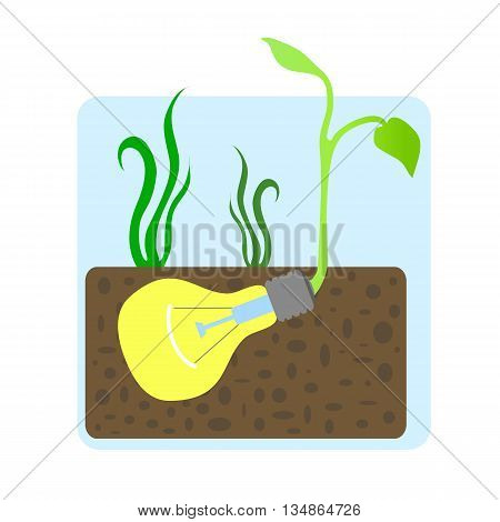 Growing of innovative idea concept vector illustration, innovative idea picture