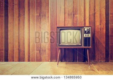 Old vintage television or tvin vintage style