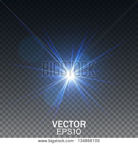 Glow light effect, Transparent light effect, Lens flare effect